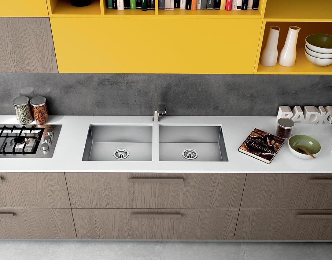 Lavello in cucina: materiali, forme e integrazione nel piano ...