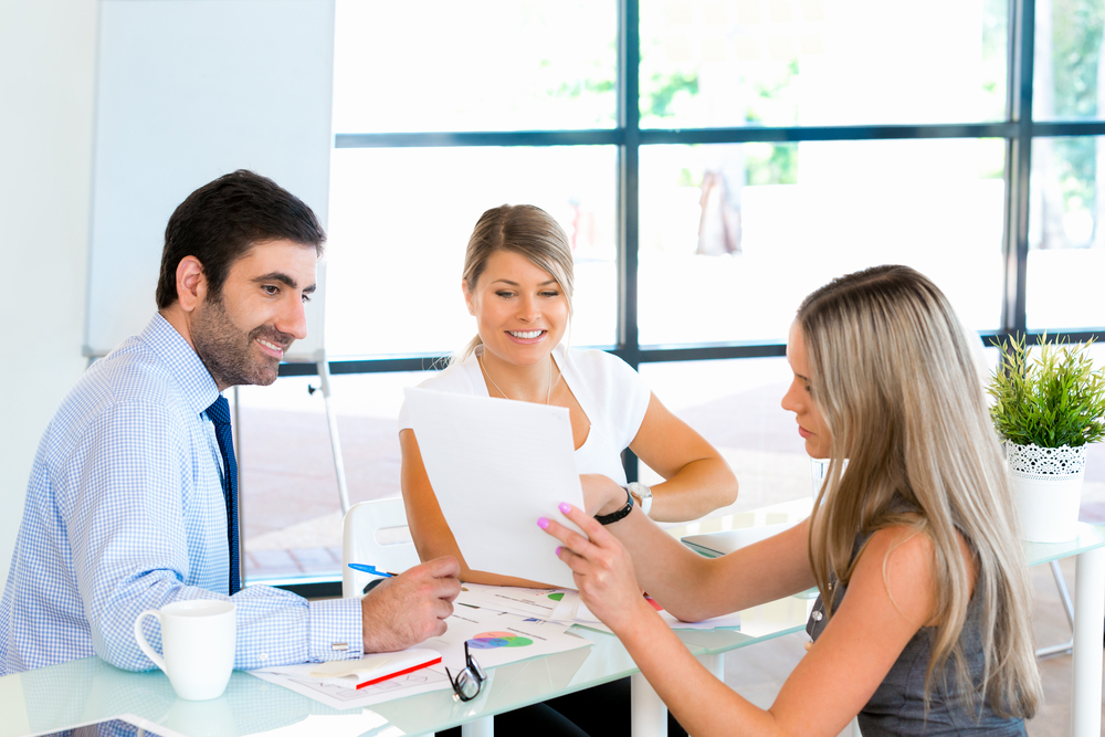 Business people having discussion in office