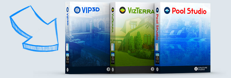 Vip3D, VizTerra and Pool Studio