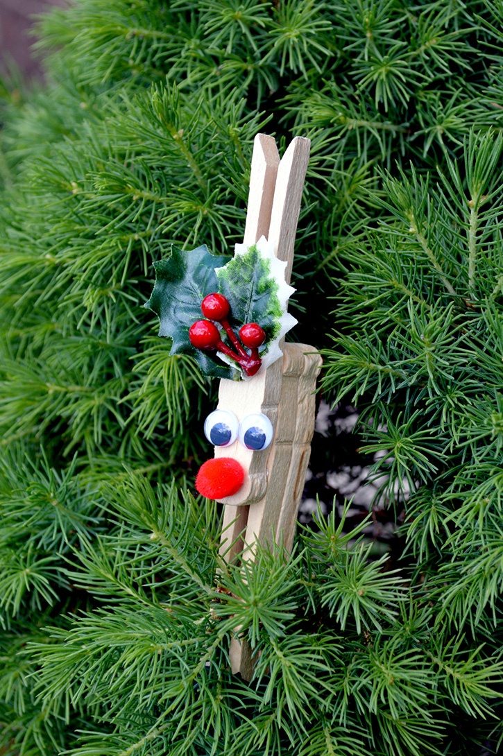 Clothespin reindeer ornament for Mercedes benz christmas ornament