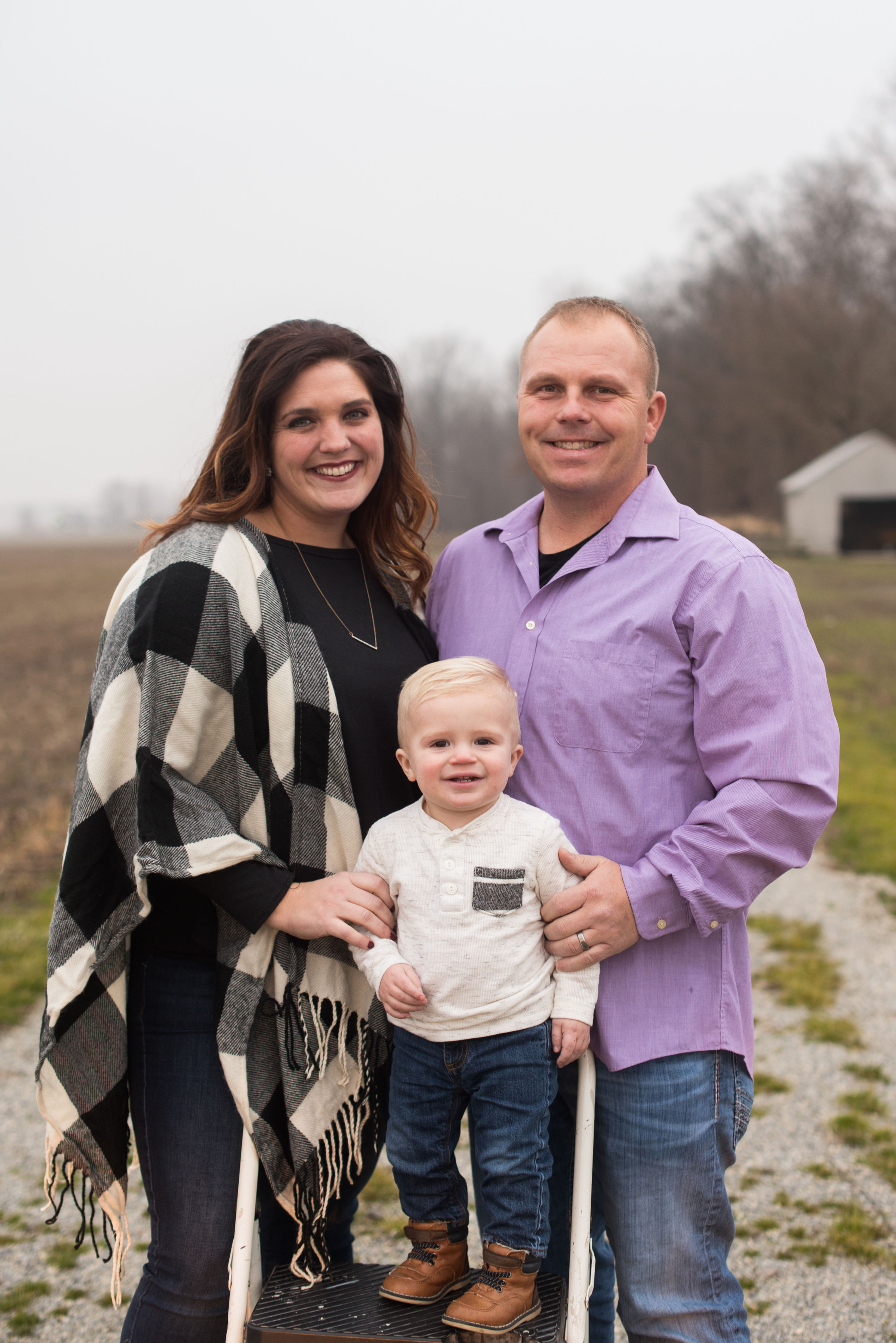 Brittani and Jake McEvoy and their son. Credit: Lindsey Whetstone Photography