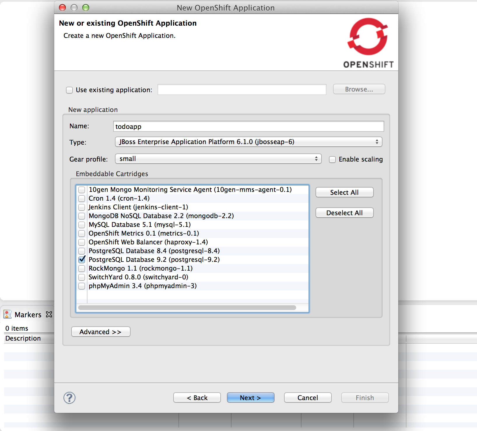 Create OpenShift Application