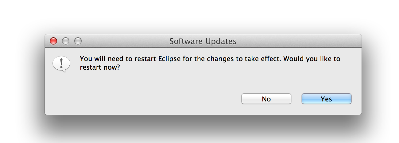 Restart Eclipse