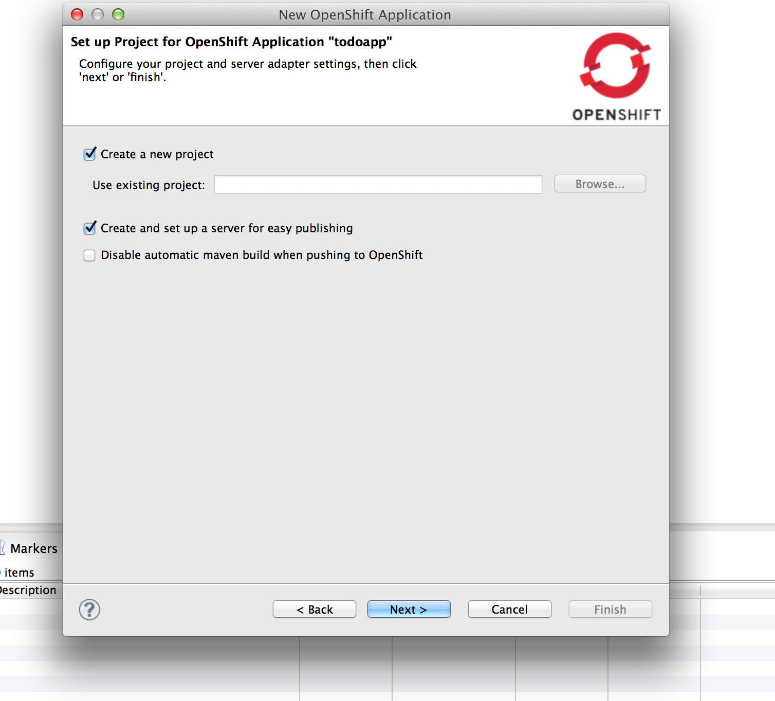 Setup OpenShift Application