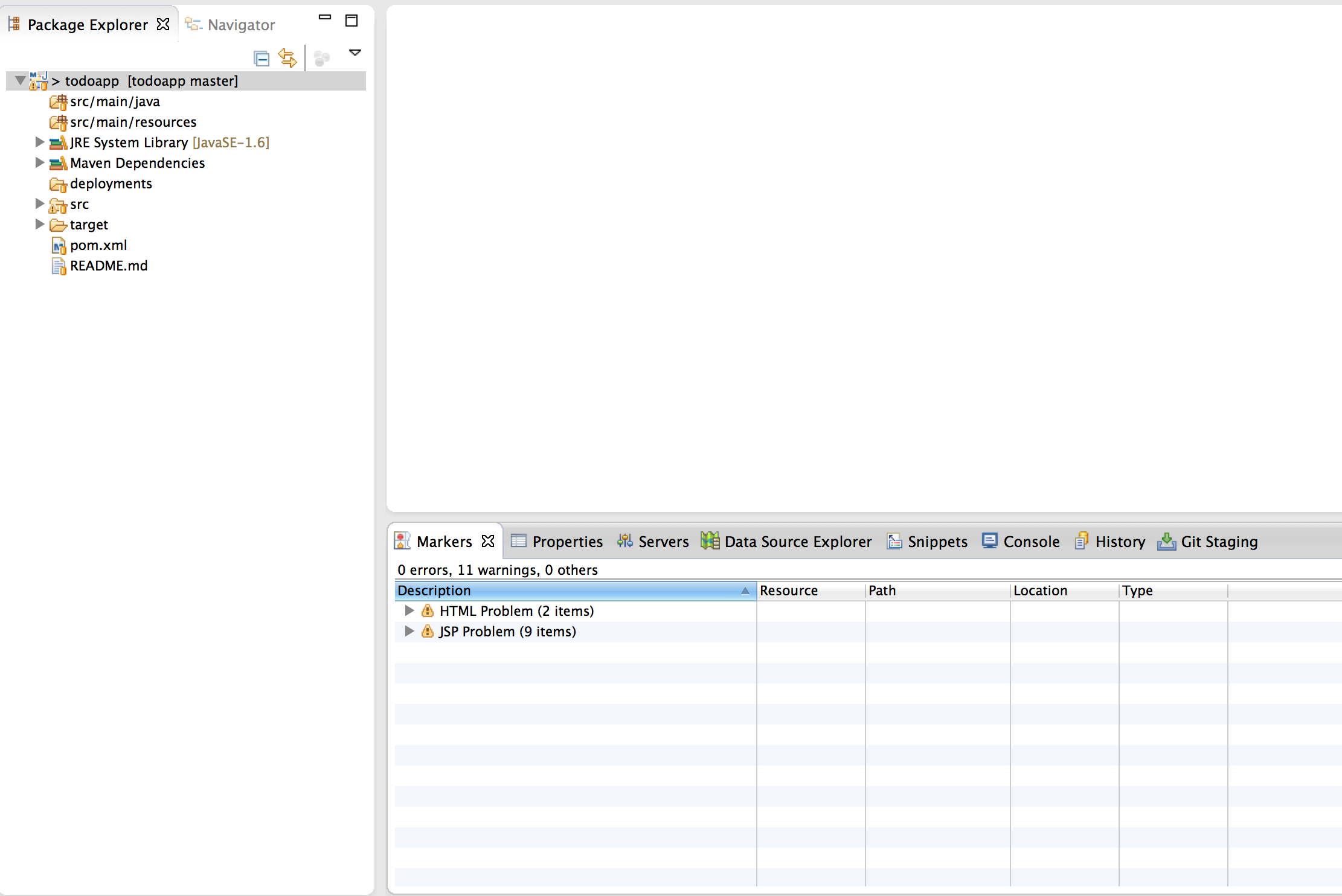 Todo App in Eclipse