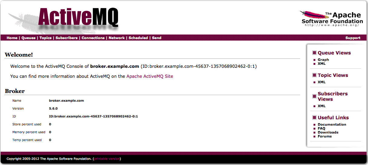 Activemq broker example  | pmetlaipapos cf