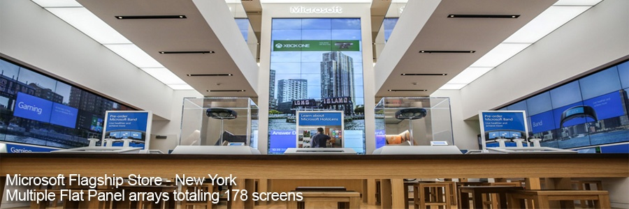 Microsoft NY Flagship Store Flat Panel Mounts
