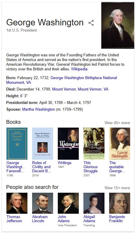 google-george-washington