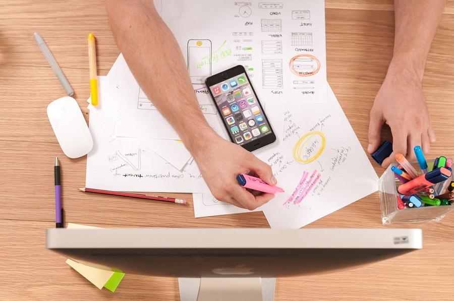 Writing a website redesign checklist at Waypost Marketing, Greenville company.jpg