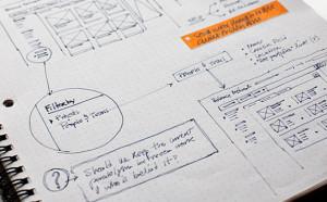 UX Web Design planning