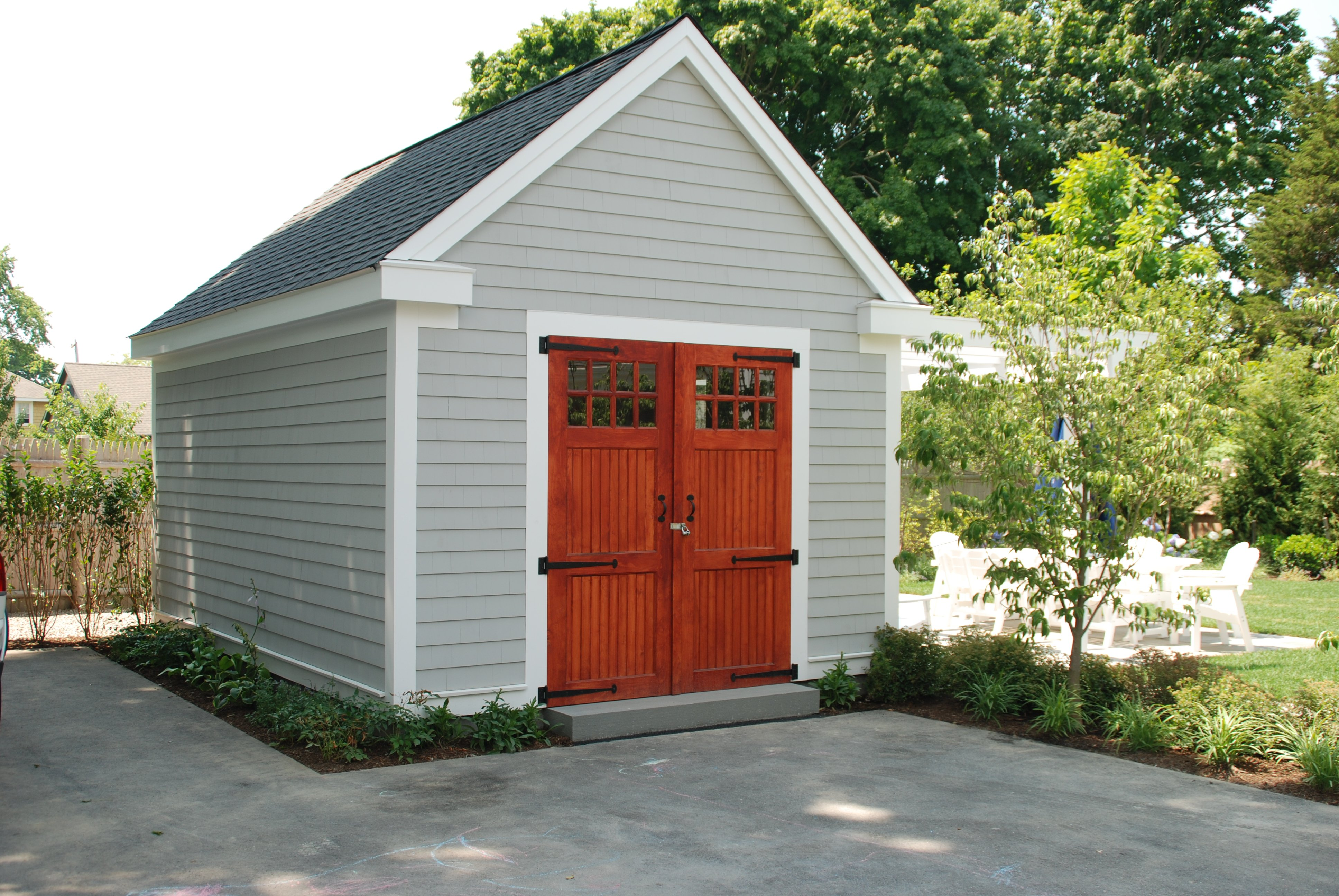 14' x 20' Nantucket Boathouse with custom trim and doors
