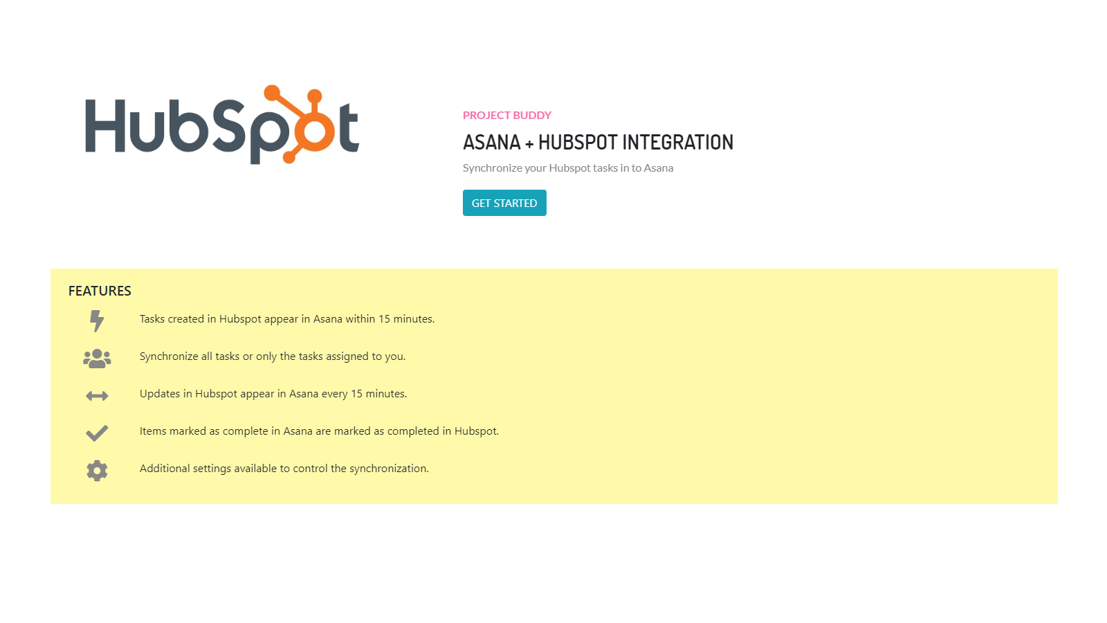 All The Tasks project buddy hubspot integration   connect them today
