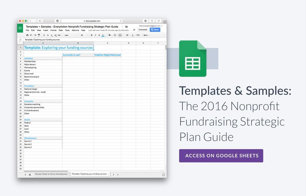 The Nonprofit Fundraising Strategic Plan Guide - Fundraising timeline template