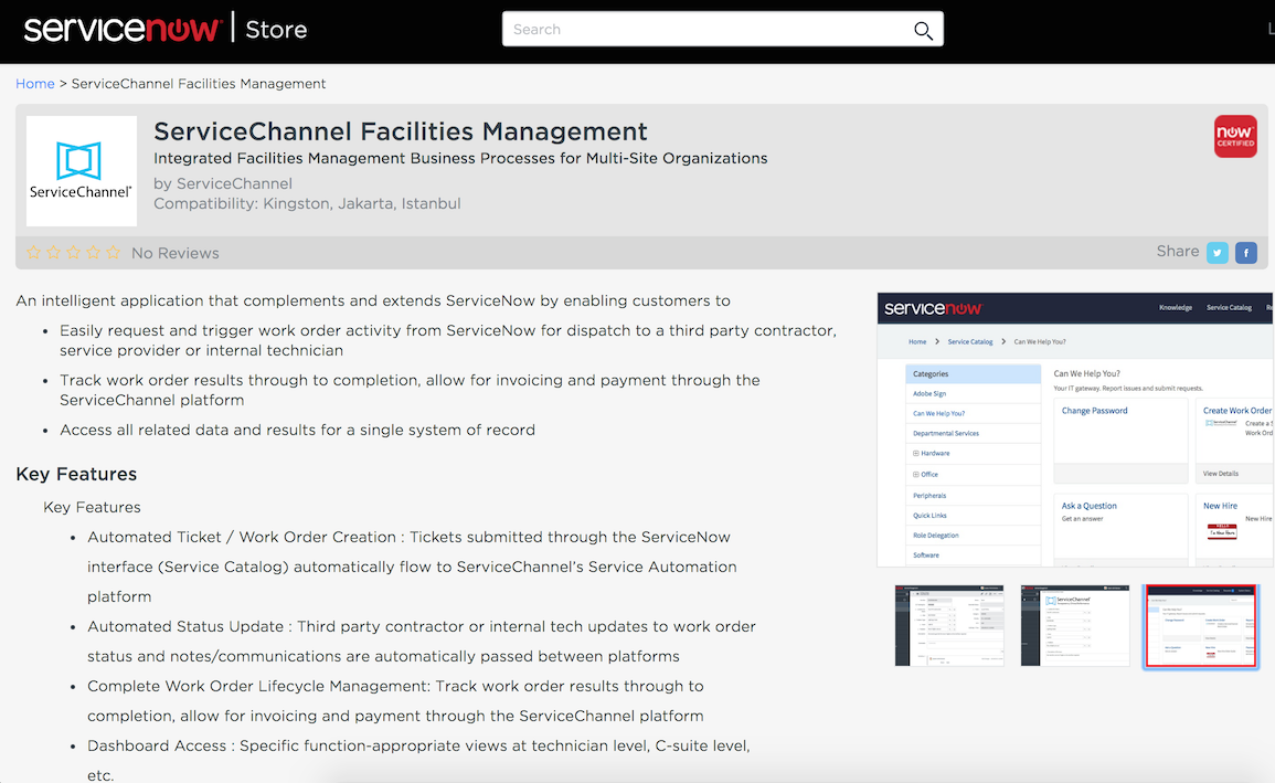 Time to Shop: ServiceChannel FM App Now Available in ServiceNow