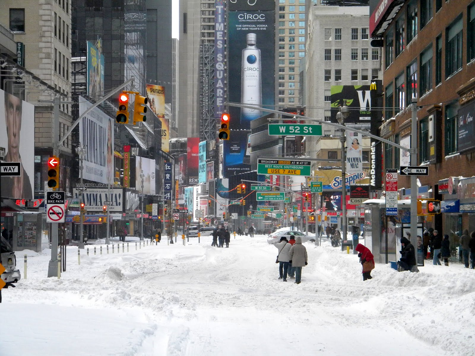 Winter Storm Jonas - Times Square