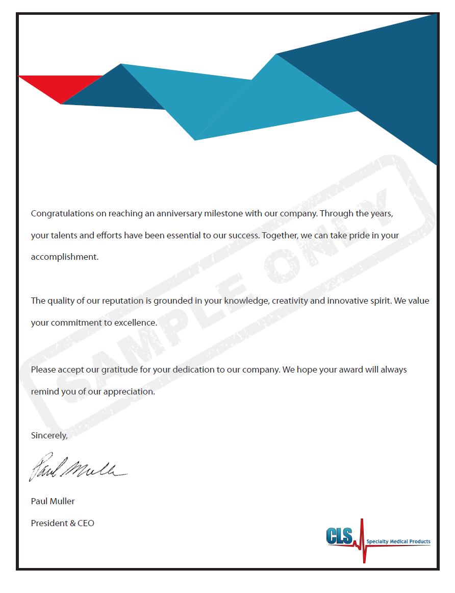 Letter-Generic-CLS Safety Award Letter Template on for scholarship,