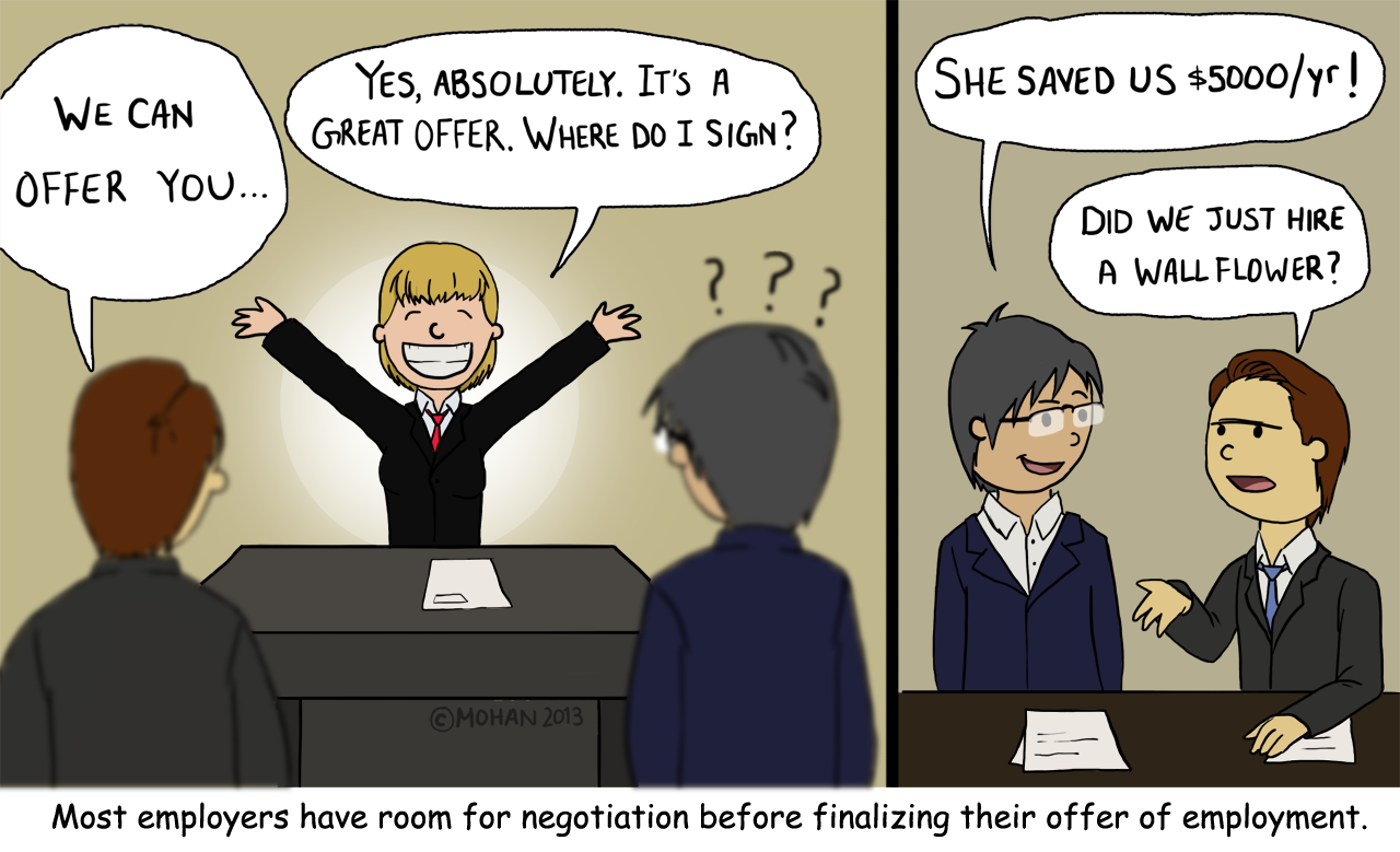 negotiating your salary nothing to be afraid of
