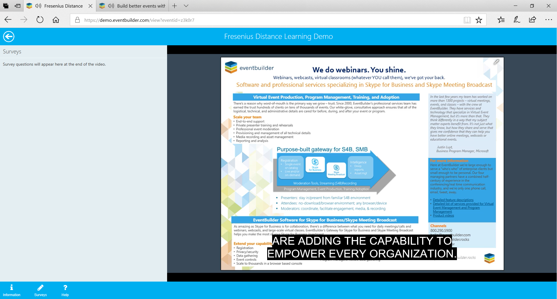 Using EventBuilder's closed captioning in your webinar to