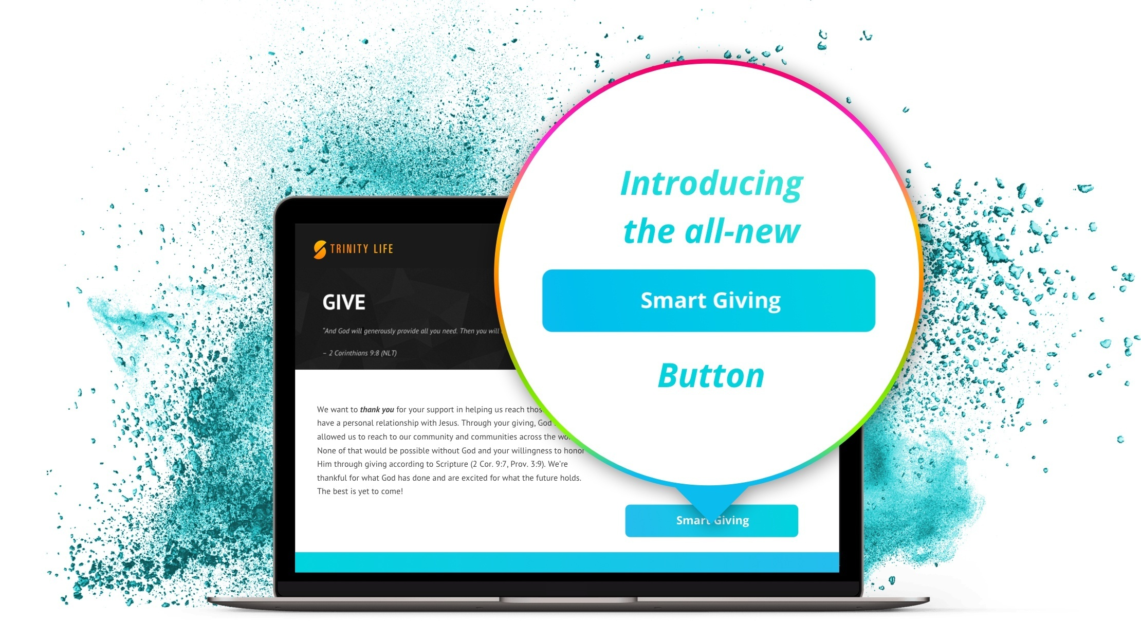 Now churches can give online through the Smart Giving Button!