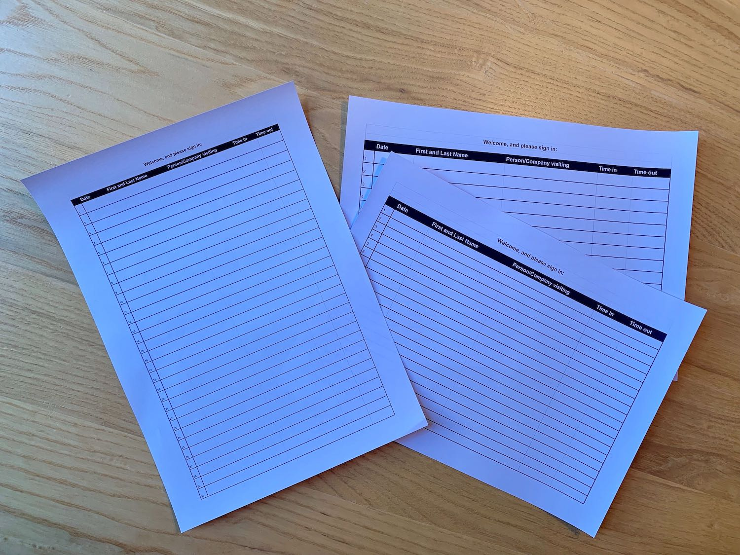 It's just a picture of Printable Sign in Sheet for Meeting pertaining to attendance