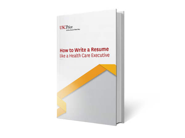 how to create a resume like a healthcare executive