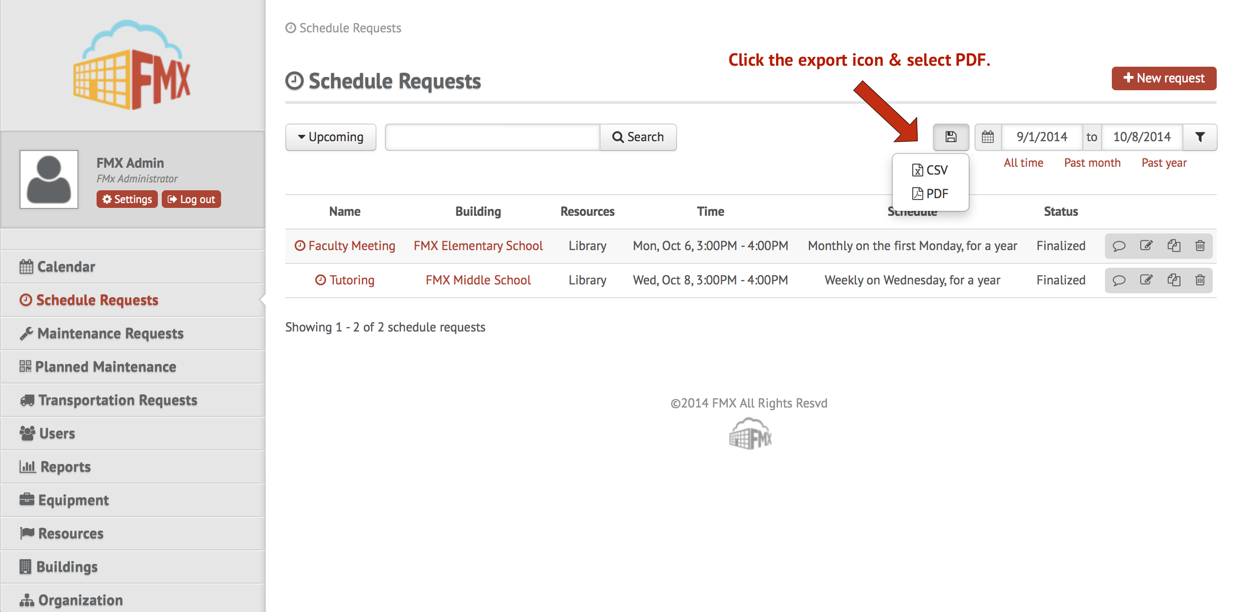 low priced d9e90 25c61 New Multi-select Feature   Schedule Request PDF Export