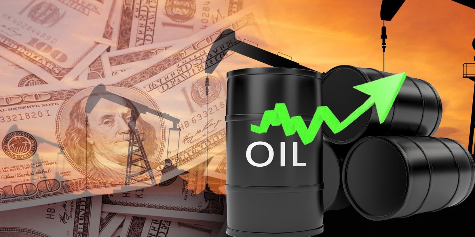 oil  and money stock photo