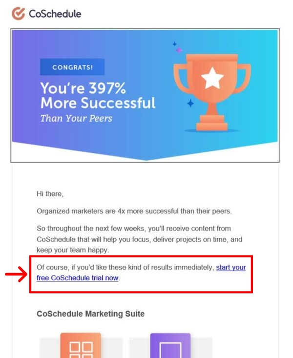 CoSchedule Marketing Email Example