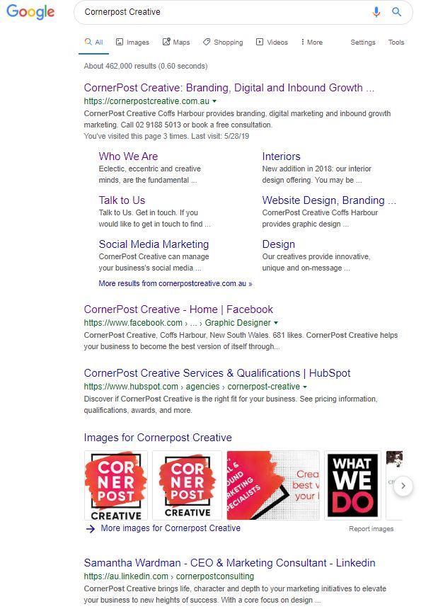 CornerPost Creative - ORM Results