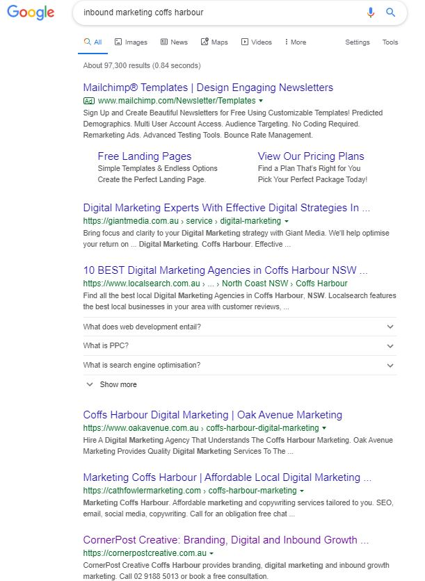 CornerPost Creative - SEO Results