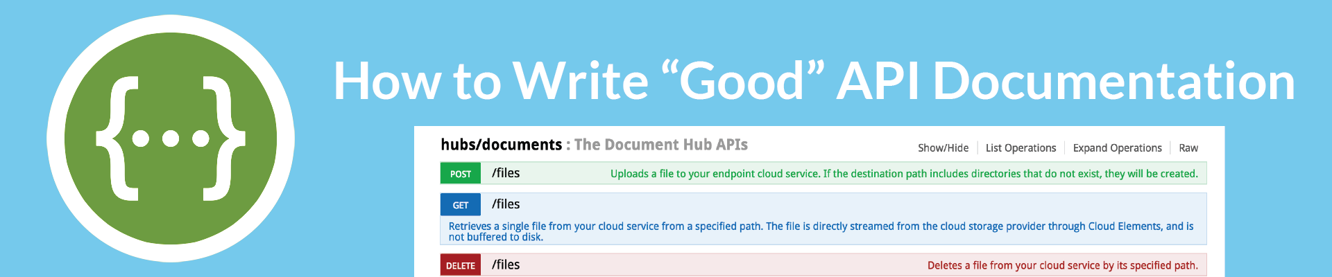 qooxdoo writing api documentation definition