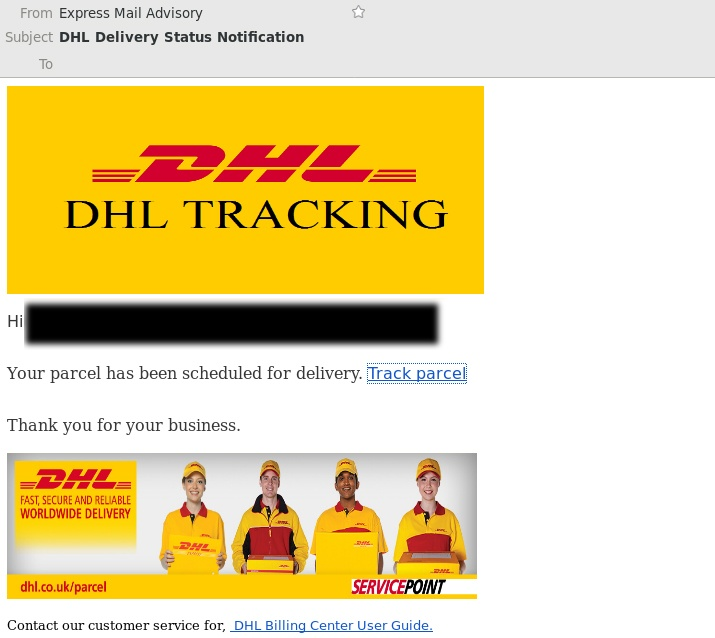 This Is Not A Real Dhl Email It S A Scam