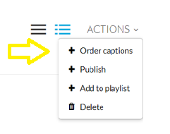 Actions-Captions