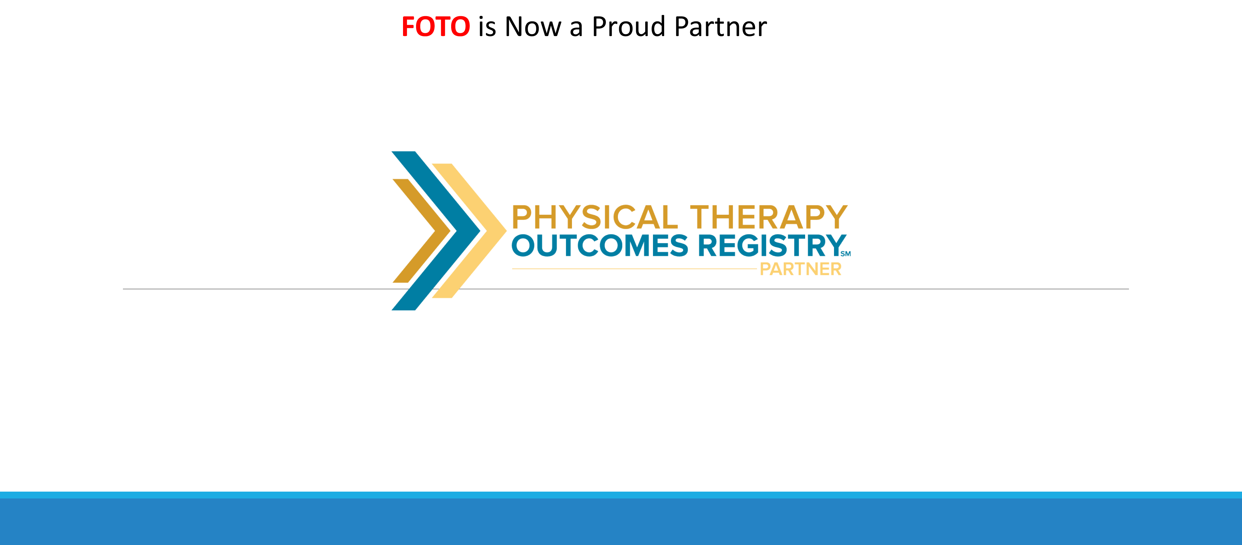 physical therapy outcomes registry
