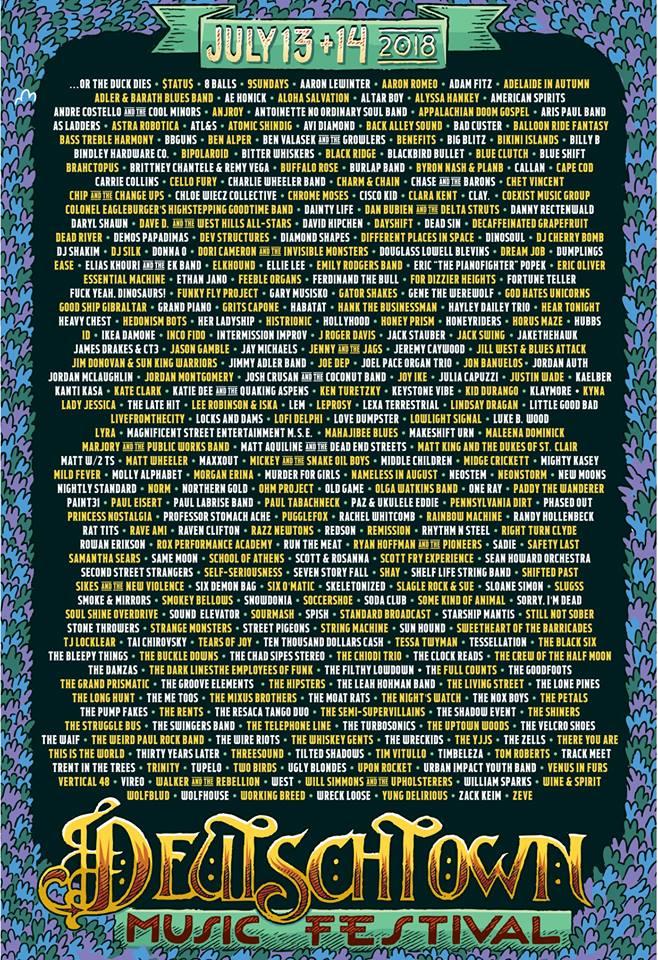 Deutschtown-2018-Band-List-Poster