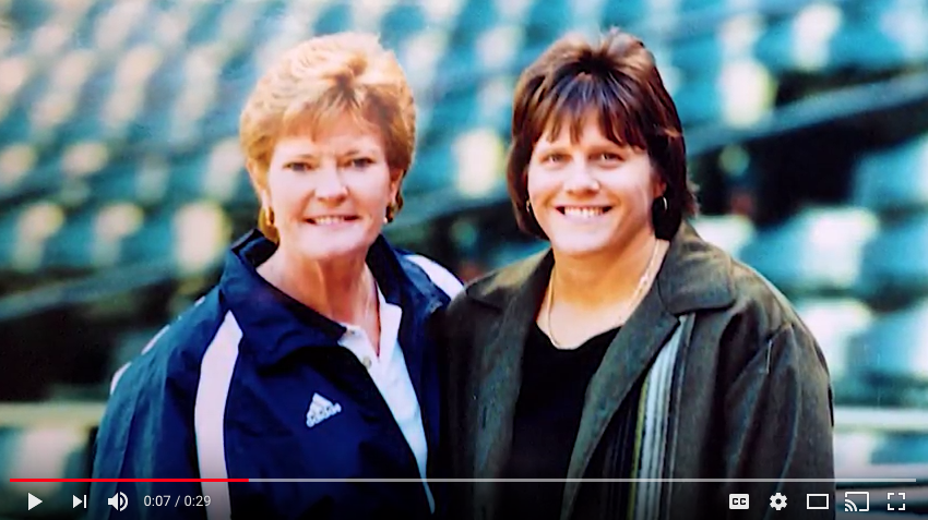 Coach Pat Summitt and Amy Gamble