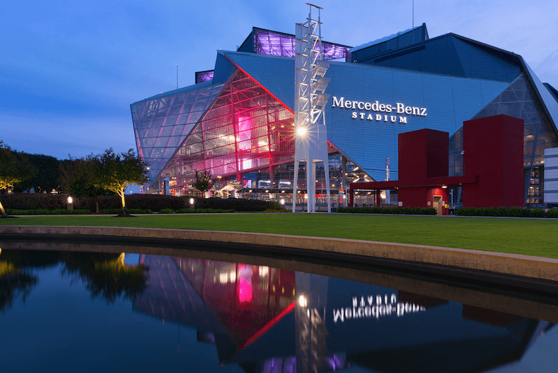 Mercedes Benz Stadium and Oldcastle Building Solutions);