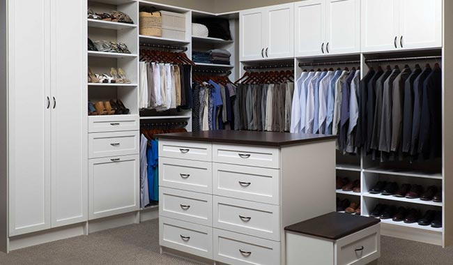 Walk In Closet With White Finish