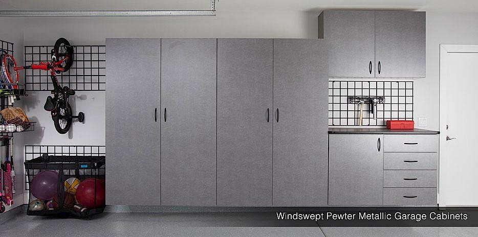 Wall Storage  Gridwall Pewter Cabinets. Gridwall System