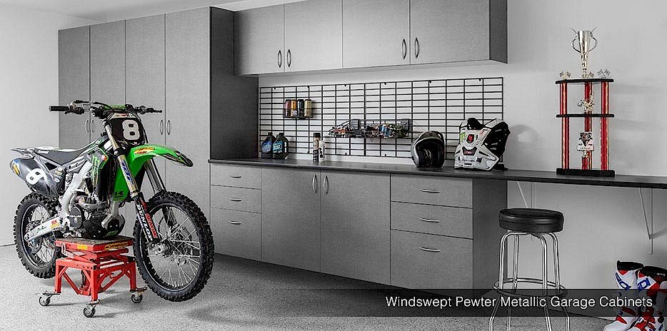 Genial Wall Storage Gridwall Windswept Pewter Cabinets