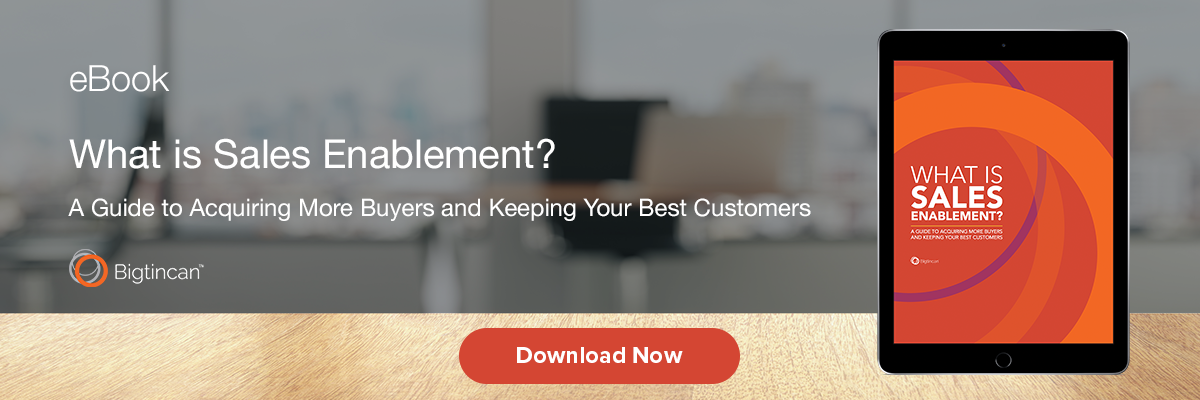 Sales Enablement ebook download image