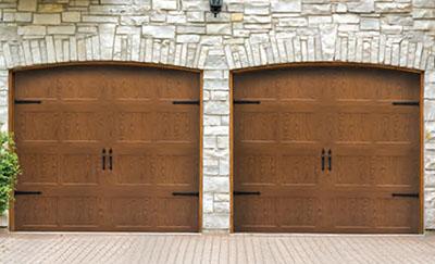 Raynor Aspen Series woodgrain steel doors