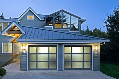 Raynor aluminum and glass garage door (StyleView design)