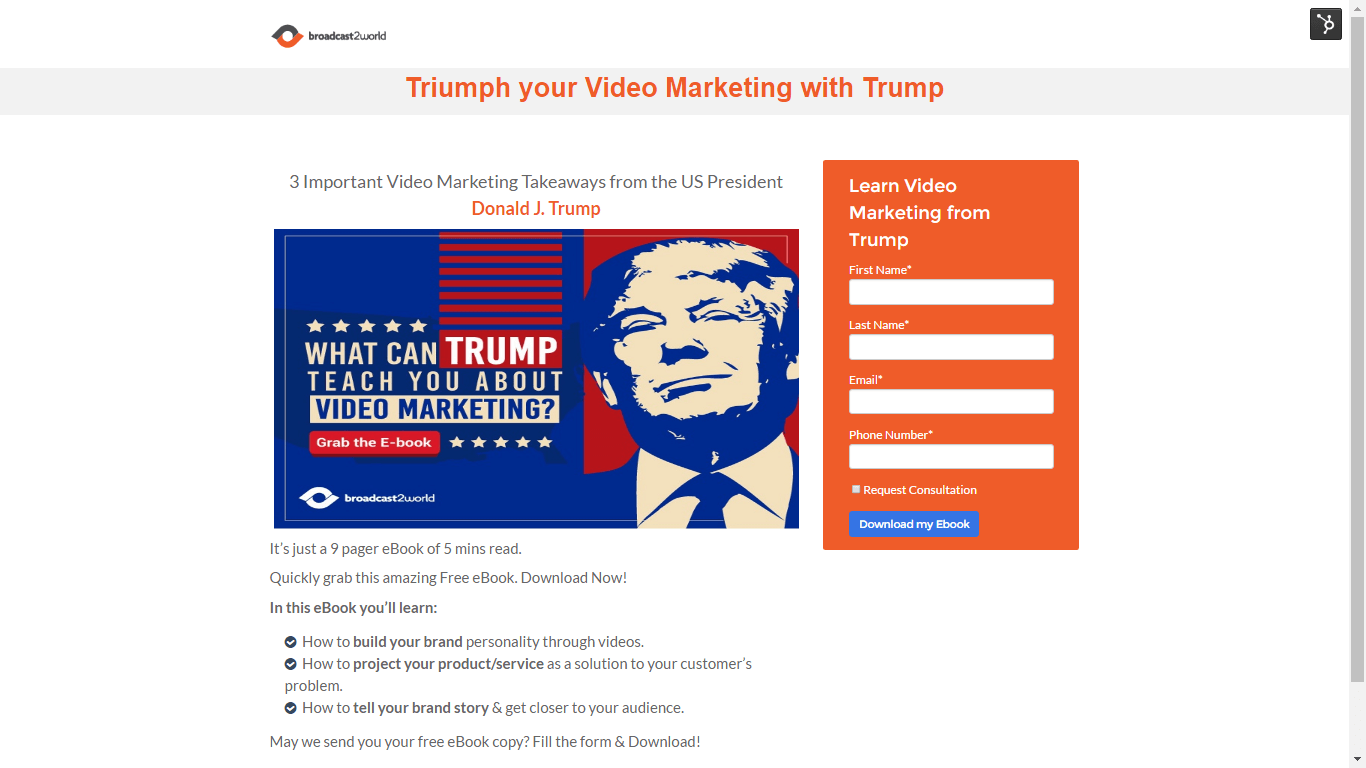 Triumph your Video Marketing with Trump