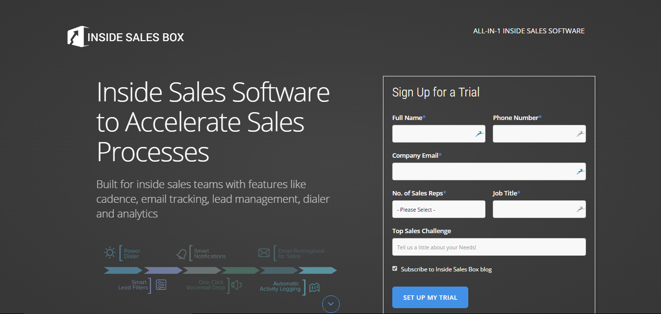 Inside Sales Software to Accelerate Sales Processes