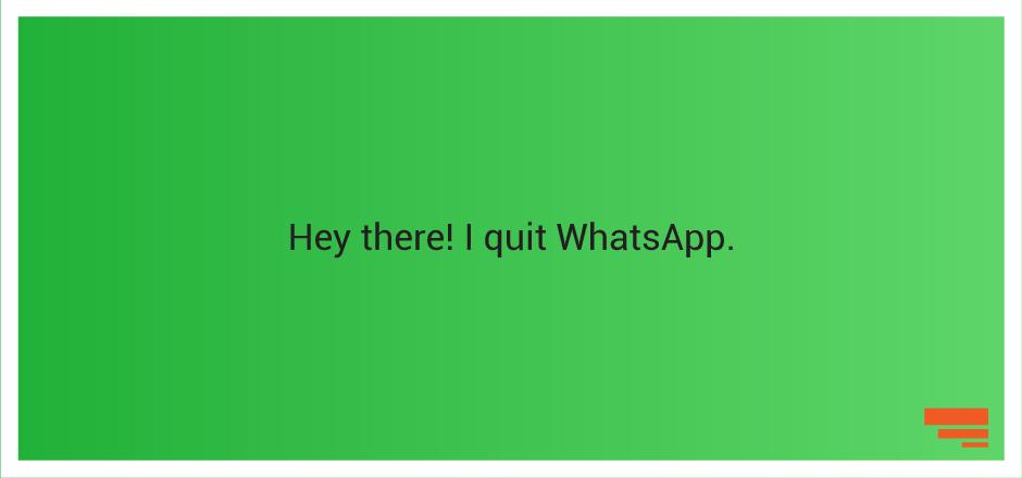 Uninstalling WhatsApp