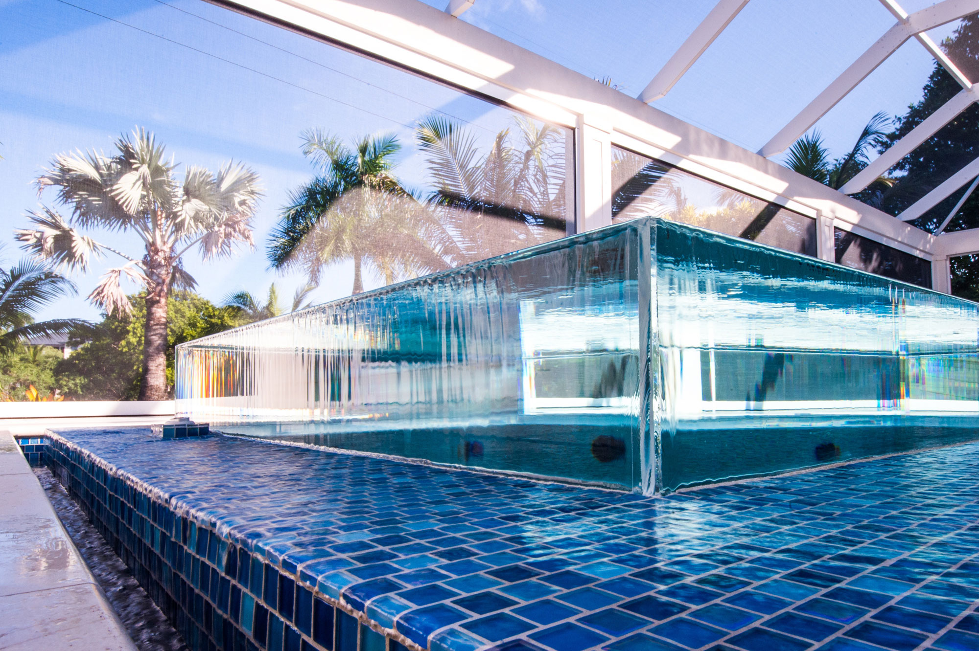 Custom pools infinity edge and perimeter overflow talk for Cost to build a house in florida