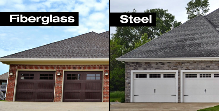 Garage door showdown fiberglass vs steel - Steel vs fiberglass exterior door ...