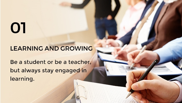 Gravity Investment's core value of learning and growing.