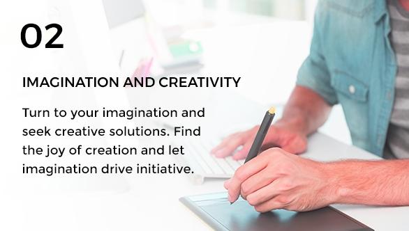 Gravity Investment's core value of imagination & creativity.